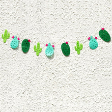 Non-woven Fabric Cactus Party Banner Garland Banner for Tropical Party Birthday Party Festival Decoration