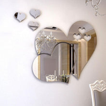 New Arrival Removable 3D Home Art Mirror Wall Sticker Love Heart DIY Room Decal Decoration