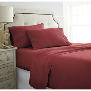 1800 Series Super Soft 4 Piece Bed Sheet Set- Hypoallergenic - Wrinkle Free - Luxurious 4 Piece Bed Sheets Set - Ultra Soft - Co