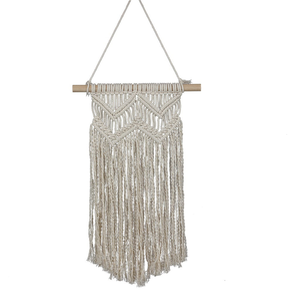 Handmade Macrame Wall Hanging- Woven Wall Art- Macrame Tapestry-Boho Wall Decor- Textile Wall Hanging   31.5 L X 13.78 W Chic Bo