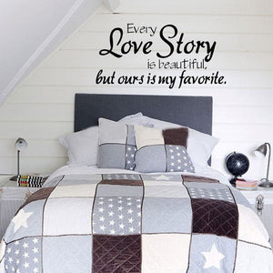 Love is story Quote Wall Sticker Vinyl Decal Home Room Decor Removable DIY CA