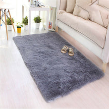 Soft Fluffy Rugs Anti-Skid Shaggy Area Rug Home Floor Carpet mats