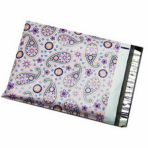 100 10x13 Purple Paisley Poly Mailer Designer Shipping Envelopes Boutique Couture Bags