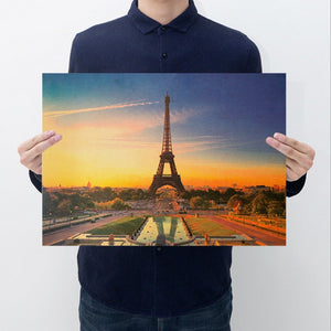 Unique Style Decorative Poster Print Kraft Paper Wall Decor