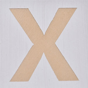 High Quality Lovely Letter XO Printed Pine Made Cube Interior Kids Home Table Top Decoration