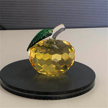Home Decorative Exquisite Crystal Apple Crafts  Best Gift 1 PC