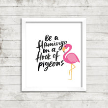 Life Inspirational Motivational Quote Picture Print Postcard Card Flamingo P7