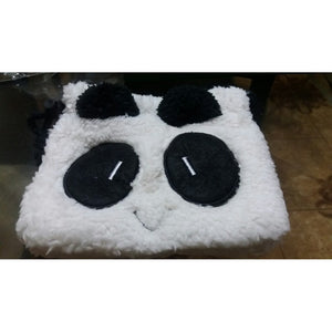 Fluffy Panda Face Coin Purse Pouch Wallet Makeup Cosmetic Drawstring Storage Bag