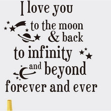 Exquisite I love you to the moon Saying Quote mural Home Decor Art Removable Vinyl Wall Sticker Decals