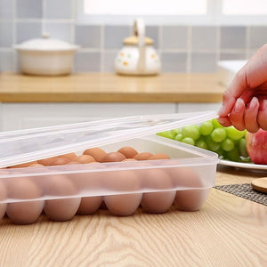 New Arrival 34 Eggs Holder Storage Box Picnic Kitchen Refrigerator Fresh-keeping Container