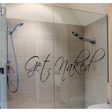 """Get Naked"" DIY Bathroom Wall Vinyl Stickers Mural Bathroom Decor Home Decal (Size: 25cm by 80cm)"