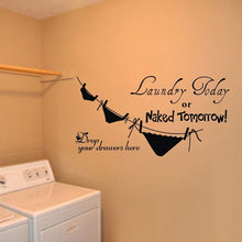 bighouse Laundry today wall stickers Piquant home decor vinyl wall sticker removable creative quote wall decals