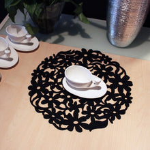 Round Laser Cut Flower Felt Placemats Kitchen Dinner Table Coasters Mats 32x32cm