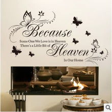 95*52cm because someone we love is in heaven creative home decoration wall decals decorative removable vinyl wall sticker mural