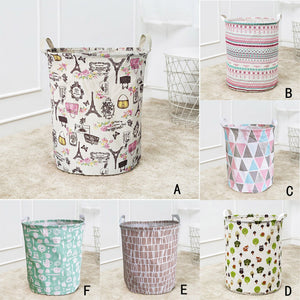 Waterproof Canvas Laundry Clothes Basket Storage Basket Folding Storage Box