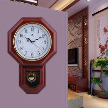 Chinese Style Wall Clock With Pendulum Home Office Schoolhouse Decoration