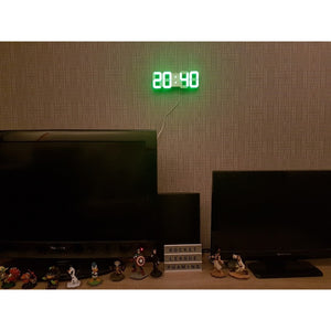 4 Color LED Digital Numbers Wall Clock with 3 levels Brightness Alarm Snooze Clock