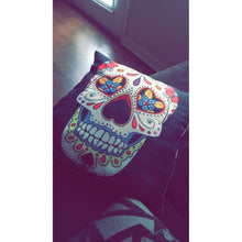 Golden Skull Fashion Pattern Cotton Linen Home Decorative Pillow Case Cushion Cover
