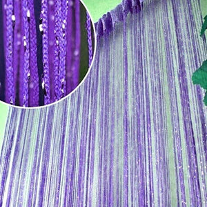 200cm X 100 Cm Room Door Window String Beads Fringe Curtain Wall Panel Divider Home Decor