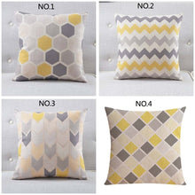 Scandinavian Style Geometric Print Pillow Cover Simple Stripe Sofa Cushion Cover Living Room Bedroom Decor Cotton Linen Pillow C