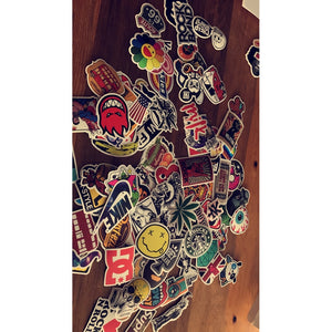 100pcs Vinyl Decals Stickers Mixed Laptop Sticker for Guitar box Skateboard Sticker Bicycle Motor Luggage Sticker
