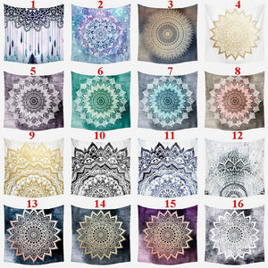 150 X 150cm Tapestry Bohemia Boho Mandala Tapestry Wall Hanging For Wall Decor
