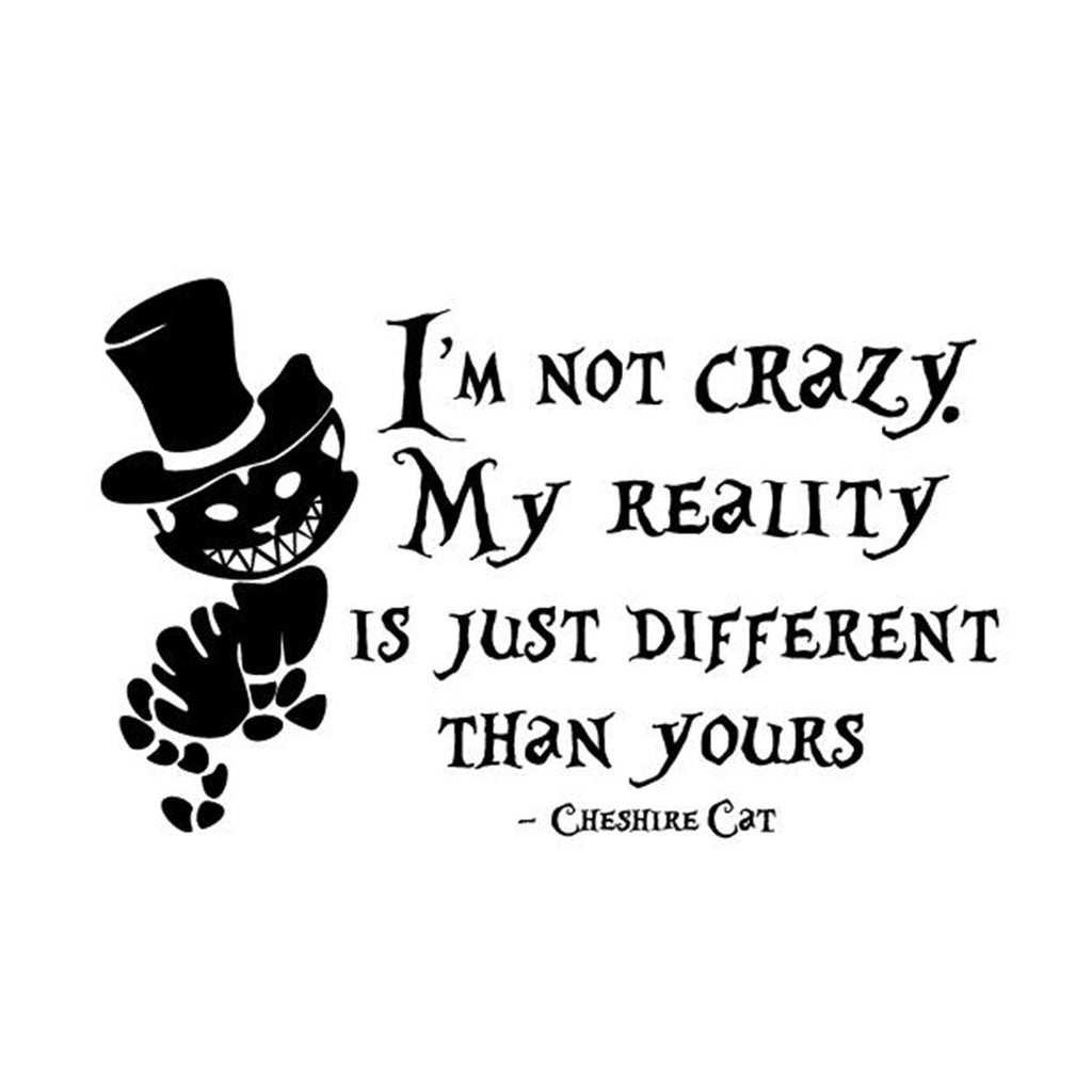 Alice In Wonderland Wall Sticker Cheshire Cat Quotes Vinyl Decals Room Paper Cadence