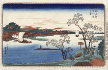 Cherry trees in leaf along the Sumida river - Hiroshige (I), Utagawa