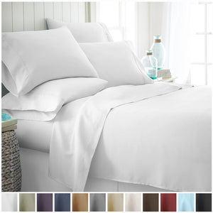Becky Cameron Luxury Ultra Soft 6 Piece Bed Sheet Set- Hypoallergenic - Wrinkle Free - Luxurious 6 Piece Bed Sheets Set - Ultra