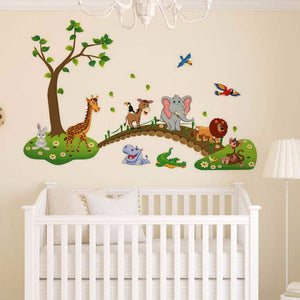 Cute Cartoon Animals Removable Wall Decal Stickers Baby Nursery Kids Room Decor