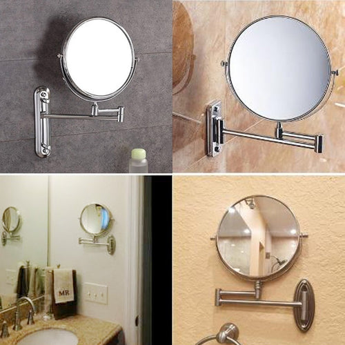 8 Inch Wall Mounted Double Side Normal +10x Magnification Makeup Mirror for Bathroom Bedroom