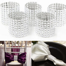 10pcs Rhinestone Designed Napkin Ring Holder Dinner Party Wedding Decor
