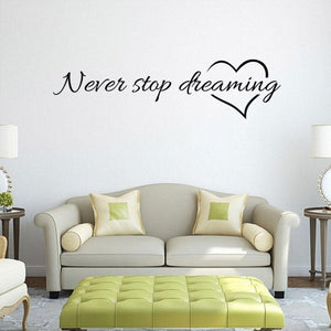 I Can Do All Things Letters Words PVC Wall Sticker Home Decor DIY Art