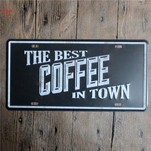 15*30cm 3 Style Coffee Metal Signs Tin Painting Poster Art Craft Wall Decals for Cafe Bar Pub Store Home Decor