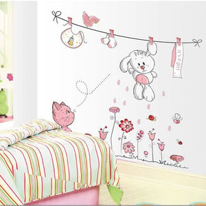 Cat Animals Removable Wall Decal Stickers For Baby Nursery Room Decor Kids DIY