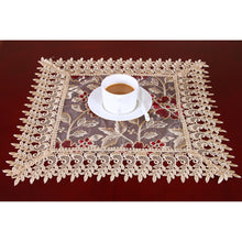 Beige Lace Square Table Doilies And Placemats Set Of 4