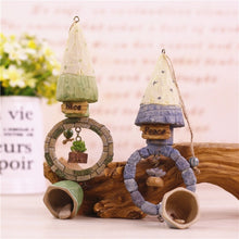 1PC Cartoon Castle Resin House Landscape Garden Outdoor Decor Wind Chime Bell
