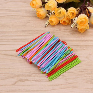 100Pcs Children Colorful Plastic 7cm Needles Tapestry Binca Sewing Wool Yarn DIY SNO (Size: 100 Pcs) ZEX