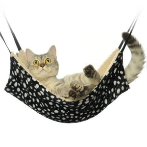 Warm Cat Hammock Fur Bed Hanging Cat Cage Ferret Rat Rabbit Chinchilla Bed Cover Blankets Rest House Soft Pets Supplies