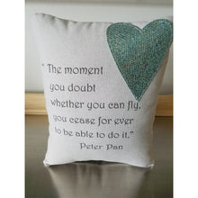 Peter Pan cushion gift for her throw pillow home decor