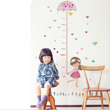 50*70cm Umbrella Measure Height Girl Removable Art Vinyl Wall Sticker Room Decals Decor