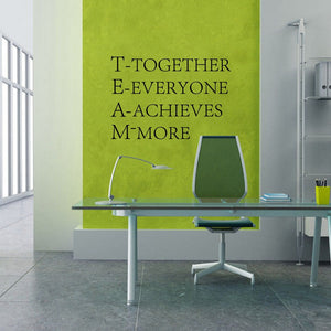 Team Motivational Wall quotes Sticker ,Inspirational words stencil vinyl decal Office wall decor