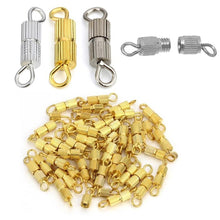 20pcs/lot Copper Screw Clasps Jewelry Components Connectors Fit DIY Necklace Bracelet Jewelry Making Findings