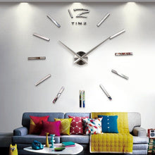 Fashion Modern Home DIY Large 3D Number Mirror Wall Sticker Art Clock Living Room Decor