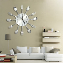 DIY Modern Knife Fork Wall Clock Analog for Home Office Decoration