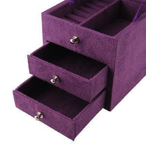Ring Vintage Display Jewelry Storage Organizer Box
