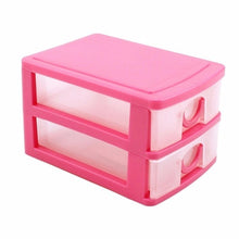 2 or 3 Layers Mini Drawer Desk Organizer Plastic Storage Boxes Containers Jewelry Cosmetics Storage Case