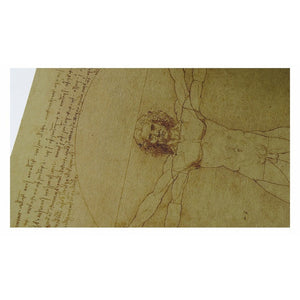 Leonardo Da Vinci Manuscript The Vitruvian Man Vintage Poster Home Decor