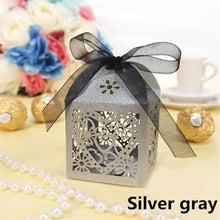 10 Pcs / Set Wedding Candy Boxes Gifts Boxes for Guests Party Candy Boxes Decor (3 Styles)