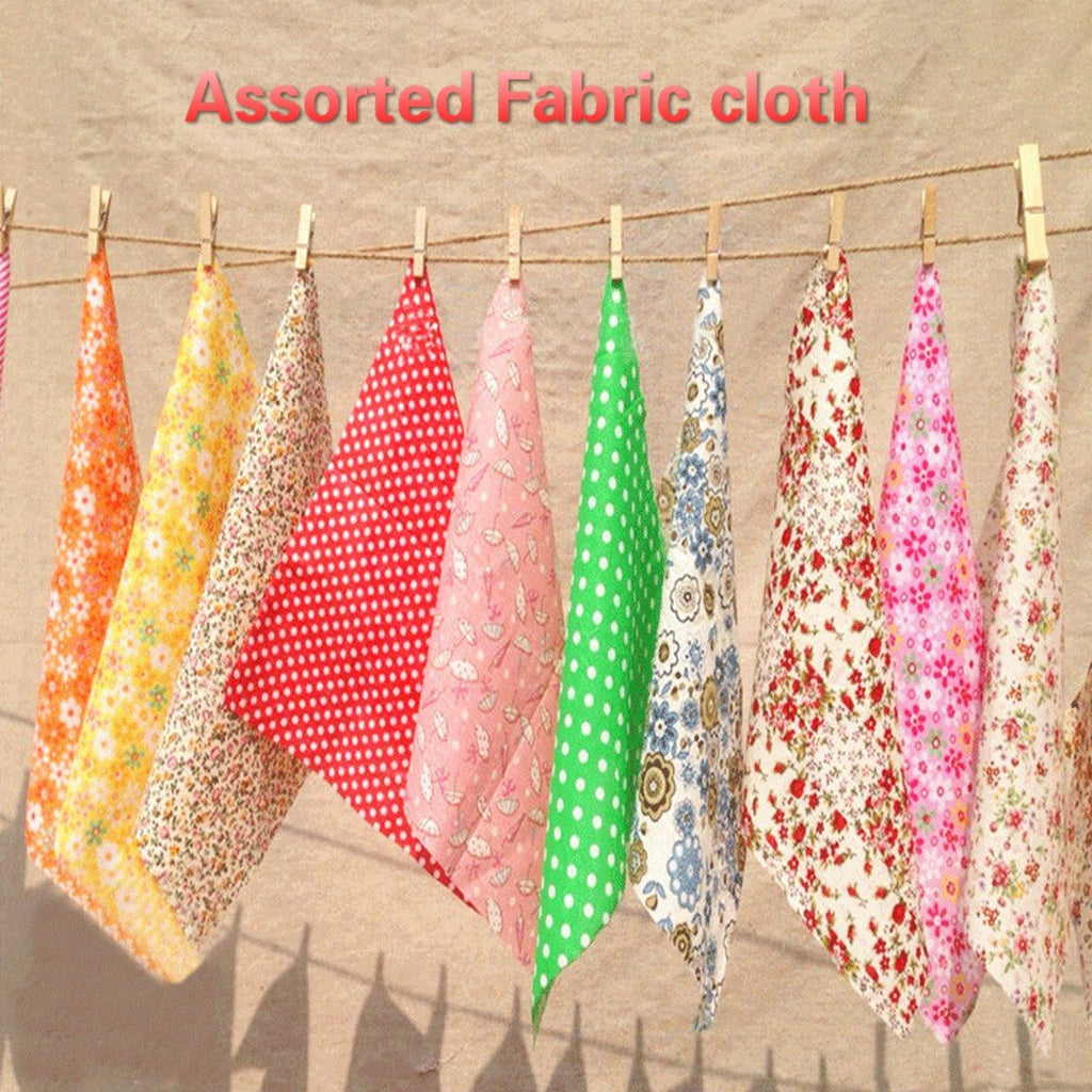 30/60/80pcs 10cm*10cm Cotton Craft Fabric Bundle Squares Patchwork DIY Sewing Scrapbooking Quilting